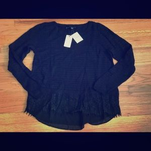 *New* Lucky Brand sweater with lace bottom